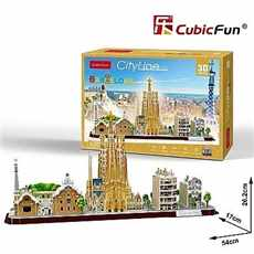 PUZZLE 3D CUBIC FUN MC256H BARCELONA
