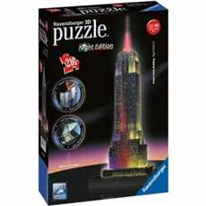 PUZZLE RAVENSBURGER 3D 216d.  125661 EMPIRE STATE BUILDING NIGHT EDITION